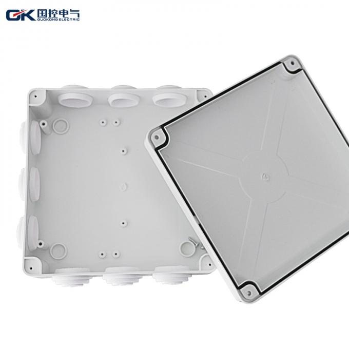 200*200*80mm Plastic Junction Box Internal Installation PVC Circular DIN For Track Components