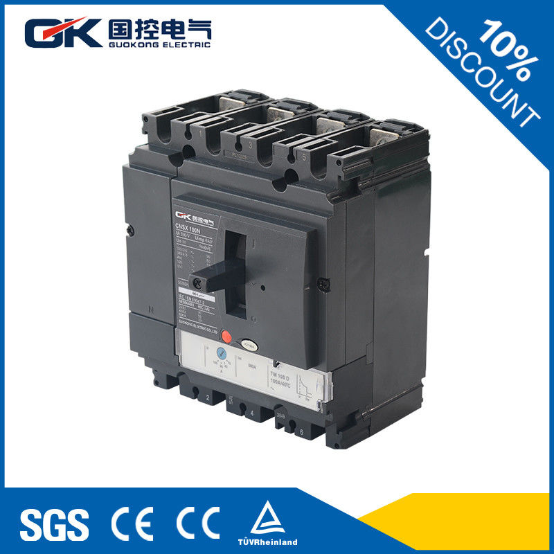 Magnetic Molded Case Circuit Breaker , Thermal Switch Electrical ...