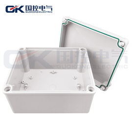 Screws White ABS Junction Box Dustproof Performance With Polycarbonate Coating