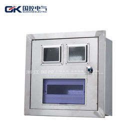 External Galvanized Steel Enclosures , Lockable Outdoor Electrical Fuse Box CE Certification